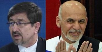 Abdul Ali Mohammadi (left) and Ashraf Ghani (right)