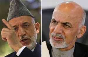 Karzai (left) and Ghani (right)