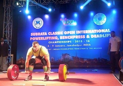 Jawaid Rahmani performing a deadlift at the event. Photo courtesy of Afghanistan Rugby Federation.