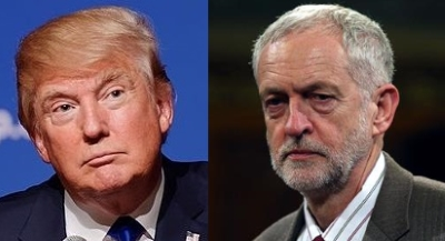 Donald Trump (left) and Jeremy Corbyn (right)