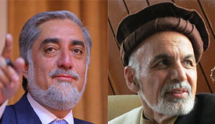 Abdullah (left) and Ghani (right)