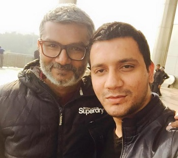 Hafiz Khan (right) with Dangal director, Nitesh Tiwari (left).
