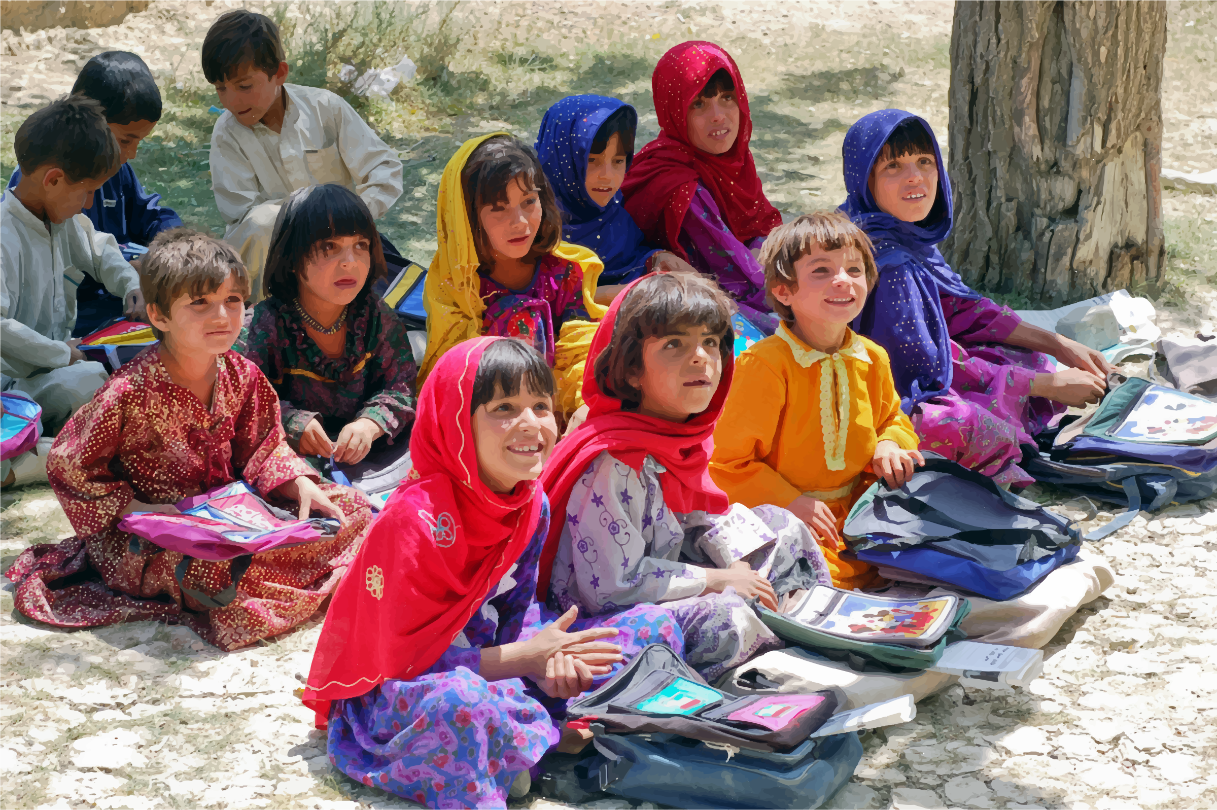 Afghan-Girls-And-Boys