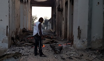 The aftermatch of the October 3 attack on MSF's trauma center in Kunduz, Afghanistan (photo: MSF)