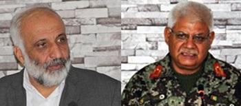 Masoom Stanekzai (left) and Gen. Abdullah Khan Habibi (right)