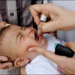 Child getting polio drops (file photo)