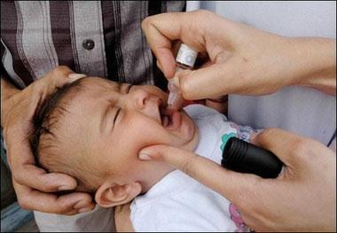 Child getting polio drops (file photo)