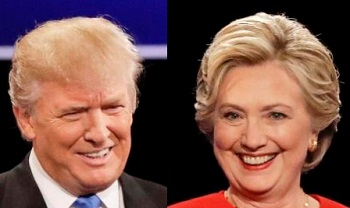 Trump (left) and Clinton (right)