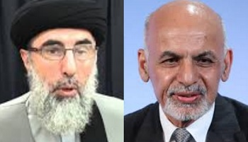 Hekmatyar (left) and Ghani (right)