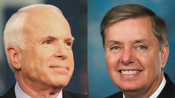 John McCain (left) and Lindsey Graham (right)