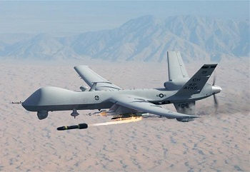 US MQ-9 Reaper drone (file photo)