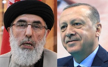 Hekmatyar (left) and Erdogan (right)