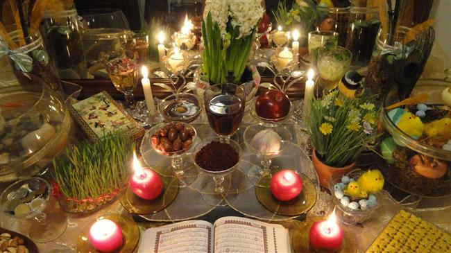 Haft Seen table