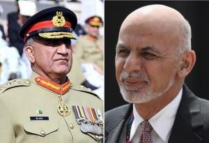 General Qamar Javed Bajwa (left) and President Ashraf Ghani (right)