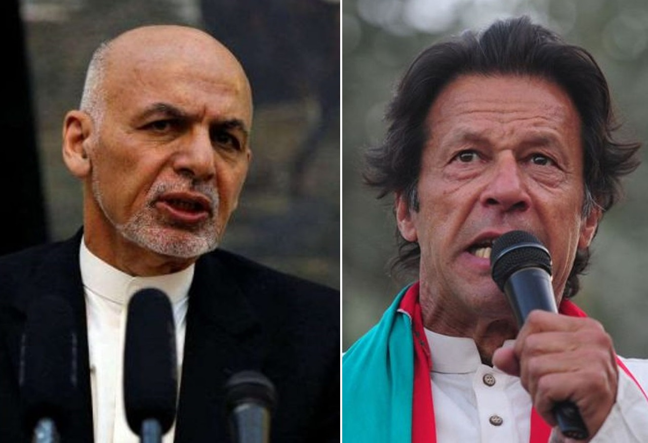 Ashraf Ghani (left) and Imran Khan (right)