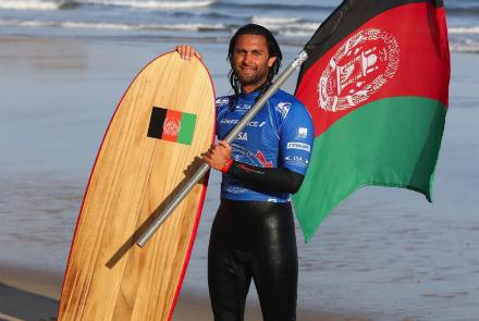 Afridun Amu, Afghanistan's first surfer