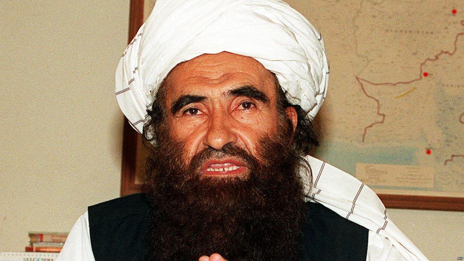 Founder of the Haqqani Network, Jalaluddin Haqqani, in 2001 photo.
