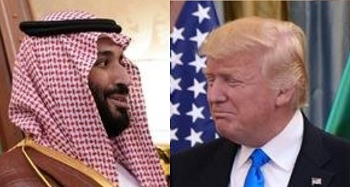 Mohammed bin Salman (left) and Donald Trump (right)