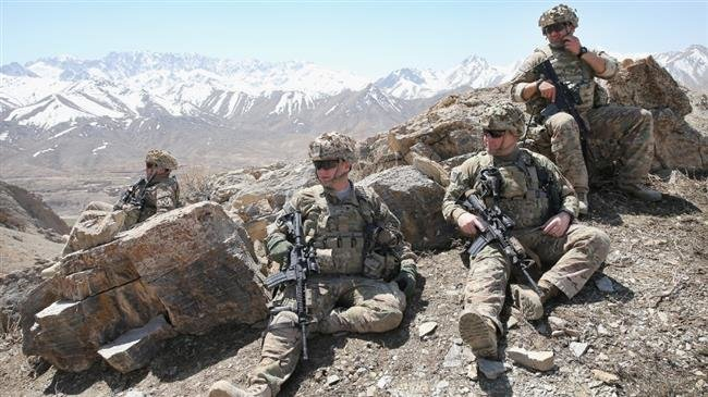 A file photo of American soldiers at an unknown location in Afghanistan.