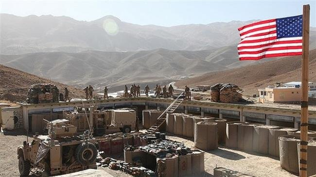 This file photo shows American forces setting up a base in the west-central Afghan province of Parwan.